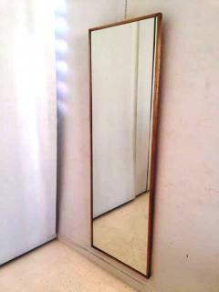 1950s original tall mirror in brass frame