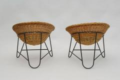 1950s Set of Two French Wicker Chairs - 822088