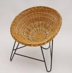 1950s Set of Two French Wicker Chairs - 822089