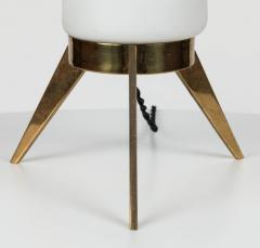 1950s Stilux Milano Glass and Brass Tripod Table Lamp - 597386