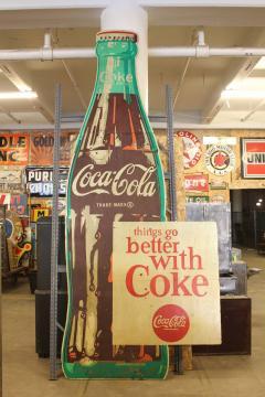 1950s Wood Coca Cola Sign - 689079