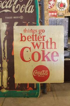 1950s Wood Coca Cola Sign - 689080