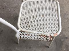 1950s perforated sheet metal furniture in the style of Mathieu Mat got - 1201487