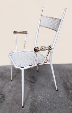 1950s perforated sheet metal furniture in the style of Mathieu Mat got - 1201488