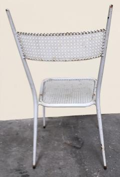 1950s perforated sheet metal furniture in the style of Mathieu Mat got - 1201491