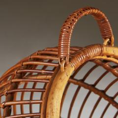 1950s wicker basket with handle - 2014066
