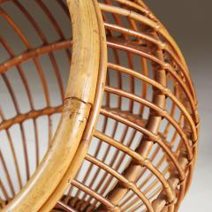 1950s wicker basket with handle - 2014067