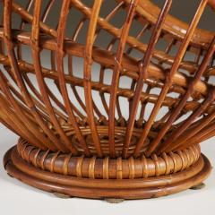 1950s wicker basket with handle - 2014068