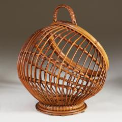 1950s wicker basket with handle - 2014069