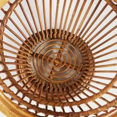 1950s wicker basket with handle - 2014070