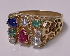 1960 s Gentlemans Gold and Gemstone Ring - 2062762