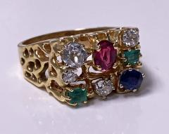 1960 s Gentlemans Gold and Gemstone Ring - 2062764