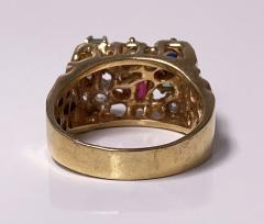 1960 s Gentlemans Gold and Gemstone Ring - 2062765