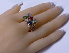 1960 s Gentlemans Gold and Gemstone Ring - 2062766