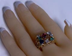 1960 s Gentlemans Gold and Gemstone Ring - 2062767