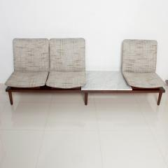 1960s Airport Seating SOFA Bench in Mahogany Marble by Pedro Ramirez Vasquez - 1546323