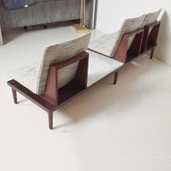 1960s Airport Seating SOFA Bench in Mahogany Marble by Pedro Ramirez Vasquez - 1546328