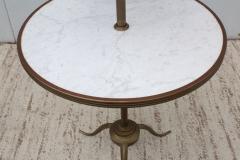 1960s Brass And Carrara Marble 3 Tier Display Shelf - 1943128