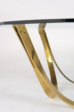 1960s Brass and Glass Coffee Table by Roger Sprunger Produce by Dunbar - 1370818