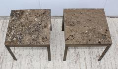 1960s Bronze And Marble Custom Made Side Tables By Cumberland - 2043017