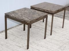 1960s Bronze And Marble Custom Made Side Tables By Cumberland - 2043019