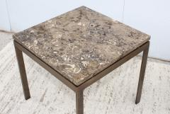 1960s Bronze And Marble Custom Made Side Tables By Cumberland - 2043023