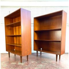 1960s Danish Modern Teak Bookcases a Pair - 1868159