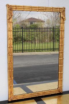 1960s Faux Bamboo Gilt Mirror - 1368020