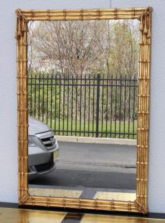 1960s Faux Bamboo Gilt Mirror - 1368021