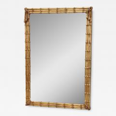 1960s Faux Bamboo Gilt Mirror - 1370181