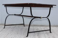 1960s French Style Indoor Outdoor Dining Table With Matching Benches - 1448714