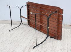 1960s French Style Indoor Outdoor Dining Table With Matching Benches - 1448715