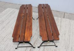 1960s French Style Indoor Outdoor Dining Table With Matching Benches - 1448718