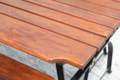 1960s French Style Indoor Outdoor Dining Table With Matching Benches - 1448719