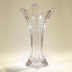 1960s French tall glass vase - 1240542