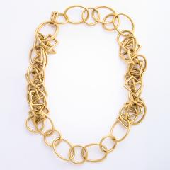 1960s Gold Chain Necklace and Bracelet - 1152078