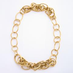 1960s Gold Chain Necklace and Bracelet - 1152079