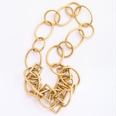 1960s Gold Chain Necklace and Bracelet - 1152080