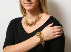 1960s Gold Chain Necklace and Bracelet - 1152089