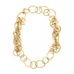 1960s Gold Chain Necklace and Bracelet - 1154723