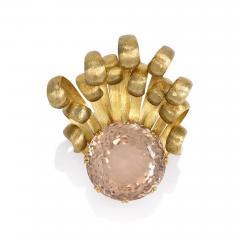 1960s Gold and Precious Topaz Brooch - 73992