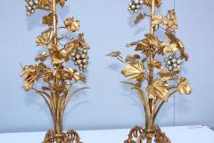 1960s Grape Vine Gilt Tall Table Lamps - 1943098