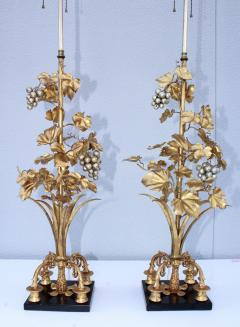 1960s Grape Vine Gilt Tall Table Lamps - 1943102