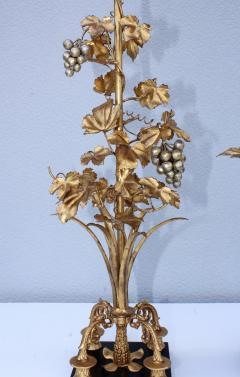 1960s Grape Vine Gilt Tall Table Lamps - 1943103