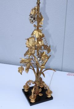 1960s Grape Vine Gilt Tall Table Lamps - 1943104