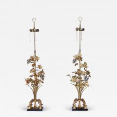 1960s Grape Vine Gilt Tall Table Lamps - 1943288