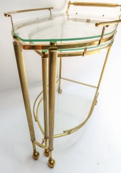 1960s Italian Brass Bar Cart with Swing out Glass Shelves - 1077278