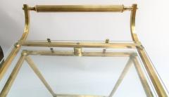 1960s Italian Brass Bar Cart with Swing out Glass Shelves - 1077279