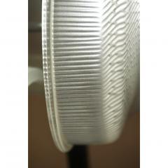 1960s Italian Pair of Minimalist White and Black Organic Chrome Floor Lamps - 1571158