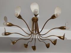 1960s Italian chandelier in polished brass - 1632254